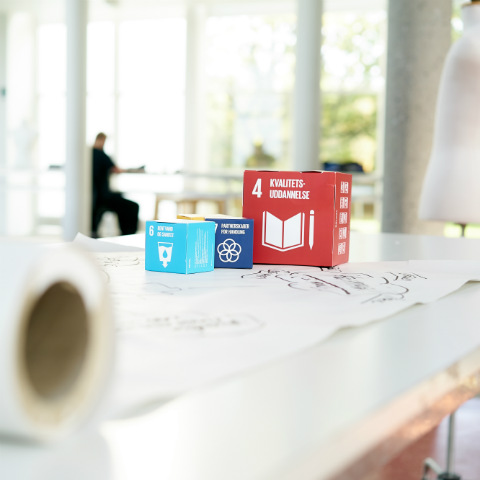 Picture of boxes with SDG on them.
